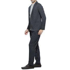 【アウトレット】ティージャケット T-JACKET シングル 2つボタンスーツ ブルー メンズ テーラード ジャケット パンツ カジュアル セットアップ 51ba419j 9344r 600 MAN FIT T-SUIT【あす楽対応_関東】【返品送料無料】