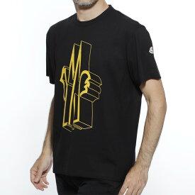 モンクレール MONCLER クルーネック Tシャツ ブラック メンズ カジュアル トップス インナー 8002250 8390t 999 MAGLIA T-SHIRT【返品送料無料】【ラッピング無料】