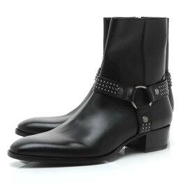 サンローランパリ SAINT LAURENT PARIS ブーツ ブラック メンズ プレゼント レザー 本革 大きいサイズあり 579524 00eyy 1000 WYATT 40 STUD HARNESS BOOTS【あす楽対応_関東】【返品送料無料】【ラッピング無料】