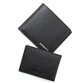 バーバリー BURBERRY 2つ折り財布 ブラック メンズ 8014670 black ROMAN BUSINESS GRAINED LEATHER【あす楽対応_関東】【返品送料無料】【ラッピング無料】
