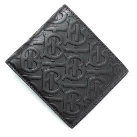 バーバリー BURBERRY 2つ折り財布 ブラック メンズ ギフト プレゼント レザー モノグラム 8017645 black MONOGRAMMED LEATHER【あす楽対応_関東】【返品送料無料】【ラッピング無料】