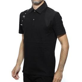 アレキサンダーマックイーン ALEXANDER McQUEEN ポロシャツ ブラック メンズ カジュアル トップス 550484 qmx30 1000【あす楽対応_関東】【返品送料無料】【ラッピング無料】