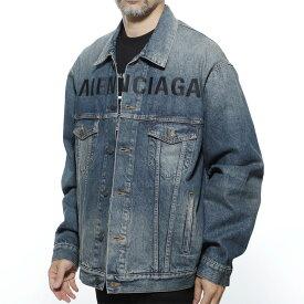 バレンシアガ BALENCIAGA デニムジャケット Gジャン ブルー メンズ カジュアル アウター 594424 tcw03 4129 CHEST LOGO JACKET【あす楽対応_関東】【返品送料無料】【ラッピング無料】