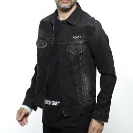 【アウトレット】【ラスト1点】オフホワイト Off-White デニムジャケット Gジャン ブラック メンズ カジュアル デニム omye019r19812011 1088【あす楽対応_関東】【返品送料無料】【ラッピング無料】