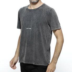 サンローランパリ SAINT LAURENT PARIS クルーネックTシャツ ブラック メンズ カジュアル プレゼント 498281 yb2lo 1059【あす楽対応_関東】【返品送料無料】【ラッピング無料】