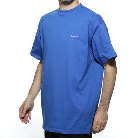【アウトレット】バレンシアガ BALENCIAGA クルーネック Tシャツ ブルー メンズ デザイン カットソー カジュアル 556150 tbv43 8077 BALENCIAGA T-SHIRT【あす楽対応_関東】【返品送料無料】【ラッピング無料】