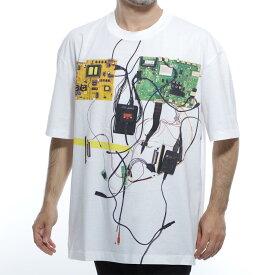 【アウトレット】メゾンマルジェラ Maison Margiela クルーネックTシャツ ホワイト メンズ 半袖 s50gc0612 s22816 100 10 男性のためのコレクション【あす楽対応_関東】【返品送料無料】【ラッピング無料】