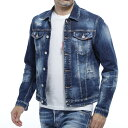 ディースクエアード DSQUARED2 デニムジャケット Gジャン ブルー メンズ コットン 綿 s74am1027 s30342 470 CATEN TWI…