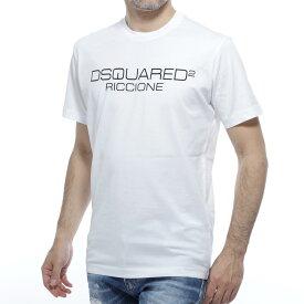 ディースクエアード DSQUARED2 クルーネックTシャツ ホワイト メンズ コットン 綿 s74gd0645 s22844 100 Riccione【あす楽対応_関東】【返品送料無料】【ラッピング無料】