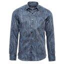 エトロ ETRO シャツ ワイドカラーシャツ ブルー メンズ 長袖シャツ 12908 4749 200 SPREAD【あす楽対応_関東】【返品…
