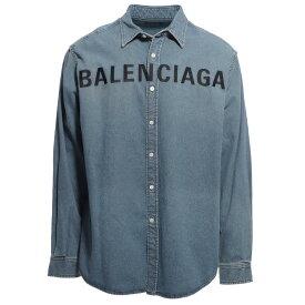 【アウトレット】【ラスト1点】バレンシアガ BALENCIAGA デニムシャツ ブルー メンズ コットン 綿 長袖 600280 tye24 4065【あす楽対応_関東】【返品送料無料】【ラッピング無料】