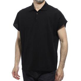【アウトレット】サンローランパリ SAINT LAURENT PARIS ポロシャツ ブラック メンズ 597021 yblg2 1000 Saint Laurent short-sleeved polo shirt with boxy sleeves【あす楽対応_関東】【返品送料無料】【ラッピング無料】[outnew]