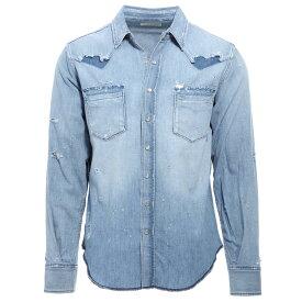 【アウトレット】サンローランパリ SAINT LAURENT PARIS デニムシャツ ウエスタンシャツ ブルー メンズ 601702 y880g 4273 Saint Laurent classic western denim shirt【あす楽対応_関東】【返品送料無料】【ラッピング無料】
