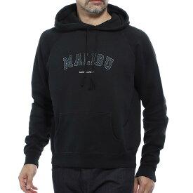 【アウトレット】サンローランパリ SAINT LAURENT PARIS パーカ フーディ ブラック メンズ 603281 ybpy2 1050 Saint laurent malibu print sweatshirt【あす楽対応_関東】【返品送料無料】【ラッピング無料】