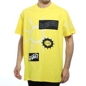 ジバンシー GIVENCHY クルーネックTシャツ イエロー メンズ bm70ul3002 730【あす楽対応_関東】【返品送料無料】【ラッピング無料】