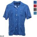 【アウトレット】ラルディーニ LARDINI 半袖シャツ キューバシャツ メンズ リネン シャツ eisantiago eic1194 830 LIN…