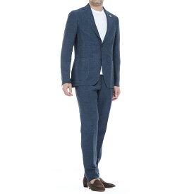 【アウトレット】ラルディーニ LARDINI 2つボタンスーツ ブルー メンズ 大きいサイズあり ei077av eia54423 604 SUIT EASY ITALIAN FIT 【あす楽対応_関東】【返品送料無料】