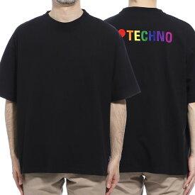 【アウトレット】バレンシアガ BALENCIAGA クルーネックTシャツ ブラック メンズ 556133 tdv20 1000 I LOVE TECHNO T-SHIRT【あす楽対応_関東】【返品送料無料】【ラッピング無料】