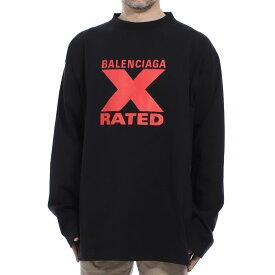 【アウトレット】バレンシアガ BALENCIAGA クルーネック長袖Tシャツ ブラック メンズ 620970 tiva7 1076 X-RATED LARGE FIT LONG SLEEVE T-SHIRT【あす楽対応_関東】【返品送料無料】【ラッピング無料】