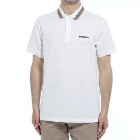 【アウトレット】バーバリー BURBERRY ポロシャツ ホワイト メンズ 8009280 white JOHNSTON ジョンストン【あす楽対応_関東】【返品送料無料】【ラッピング無料】
