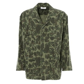 セリーヌ CELINE シャツジャケット グリーン メンズ 2c275 542i 02kk TWILL CAMOUFLAGE LEGER【あす楽対応_関東】【返品送料無料】【ラッピング無料】