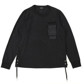 ディーゼル DIESEL クルーネック 長袖Tシャツ ブラック メンズ t laces 00siep 0iasx 900 T-LACES【あす楽対応_関東】【返品送料無料】【ラッピング無料】