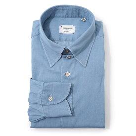 【大感謝祭DEAL】【アウトレット】ボリエッロ BORRIELLO タブカラー シャツ ブルー メンズ 大きいサイズあり tab 9094 2 TAB SLIM FIT【あす楽対応_関東】【返品送料無料】【ラッピング無料】