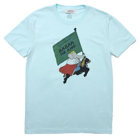 ランバン LANVIN クルーネック Tシャツ ブルー メンズ rm je0034 jr15 a20 201【あす楽対応_関東】【返品送料無料】【ラッピング無料】