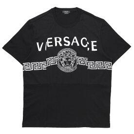 ヴェルサーチェ VERSACE クルーネック Tシャツ ブラック メンズ a86893 a228806 a1008 MEDUSA LOGO T-SHIRT【あす楽対応_関東】【返品送料無料】【ラッピング無料】