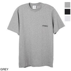 【2万円均一】ヴェトモン VETEMENTS クルーネック Tシャツ メンズ uah21tr501 grey LOGO FRONT BACK T-SHIRT【あす楽対応_関東】【返品送料無料】【ラッピング無料】
