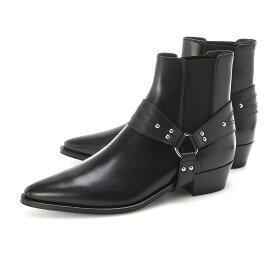 セリーヌ CELINE ブーツ ブラック メンズ 大きいサイズあり 34059 3393c 38no CELINE CAMARGUE CHELSEA BOOT WITH HARNESS【あす楽対応_関東】【返品送料無料】【ラッピング無料】