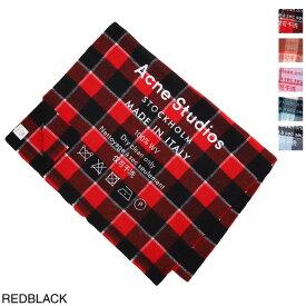 アクネ ACNE STUDIOS 大判ストール メンズ レディース fn ux scar000026 red black【あす楽対応_関東】【返品送料無料】【ラッピング無料】