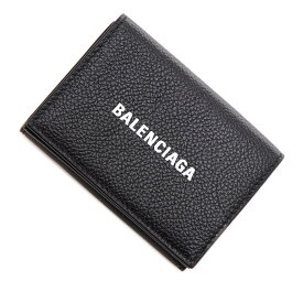 バレンシアガ BALENCIAGA 3つ折り財布 小銭入れ付き ブラック メンズ 594312 1izi3 1090 CASH MINI WALLET【あす楽対応_関東】【返品送料無料】【ラッピング無料】[2021SS]