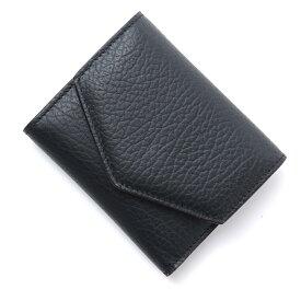 メゾンマルジェラ Maison Margiela 3つ折り財布 小銭入れ付き ブラック レディース s56ui0136 p0399 t8013【あす楽対応_関東】【返品送料無料】【ラッピング無料】