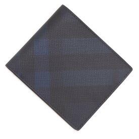バーバリー BURBERRY 2つ折り財布 ブルー メンズ 8022943 navy【あす楽対応_関東】【返品送料無料】【ラッピング無料】