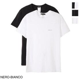 ヴェルサーチェ VERSACE クルーネック Tシャツ 2枚セット メンズ au04023 ac00058 a2a4 BI PACK【あす楽対応_関東】【返品交換不可】【ラッピング無料】[2021SS]