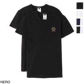 ヴェルサーチェ VERSACE クルーネック Tシャツ 2枚セット メンズ au10193 a232741 a1008【あす楽対応_関東】【返品交換不可】【ラッピング無料】