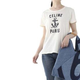 セリーヌ CELINE クルーネックTシャツ ホワイト レディース 2x585 114l 01bi【あす楽対応_関東】【返品送料無料】【ラッピング無料】