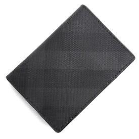 バーバリー BURBERRY カードケース グレー メンズ 8014514 darkcharcoal LONDON CHECK & LEATHER FOLDING CARD CASE【あす楽対応_関東】【返品送料無料】【ラッピング無料】