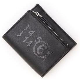 エムエム 6 メゾンマルジェラ MM6 Maison Margiela 2つ折り財布 小銭入れ付き ブラック レディース s54ui0128 p3993 t8013【あす楽対応_関東】【返品送料無料】【ラッピング無料】