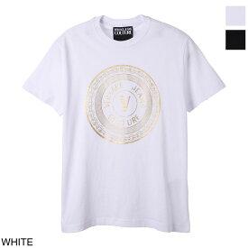 ヴェルサーチェ VERSACE JEANS COUTURE クルーネック Tシャツ メンズ b3gwa7te 30319 k41【あす楽対応_関東】【返品送料無料】【ラッピング無料】[2021SS]