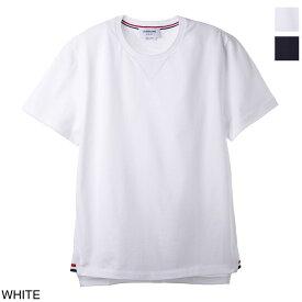 トムブラウン THOM BROWNE. クルーネック Tシャツ メンズ mjs143a 00042 100【あす楽対応_関東】【返品送料無料】【ラッピング無料】[2021SS]