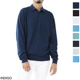 ジョンスメドレー JOHN SMEDLEY 長袖 ポロシャツ メンズ bradwell black BRADWELL ブラッドウェル 30ゲージ【あす楽対応_関東】【返品送料無料】【ラッピング無料】[2021SS]