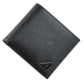 プラダ PRADA 2つ折り 財布 小銭入れ付き ブラック メンズ 2mo738 qhh f0002【あす楽対応_関東】【返品送料無料】【ラッピング無料】