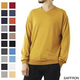 ジョンスメドレー JOHN SMEDLEY Vネック セーター メンズ shipton saffron SHIPTON シップトン 30ゲージ【あす楽対応_関東】【返品送料無料】【ラッピング無料】[2021AW]