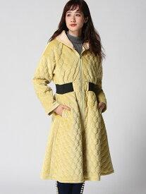 [Rakuten Fashion]2WAYキルティングコート[D] Million Carats ミリオンカラッツ コート/ジャケット ロングコート イエロー ブラック【送料無料】