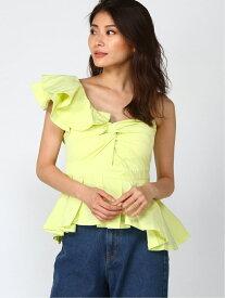 [Rakuten Fashion]アシメブラウス[DRESS/ドレス] Million Carats ミリオンカラッツ シャツ/ブラウス シャツ/ブラウスその他 イエロー【送料無料】