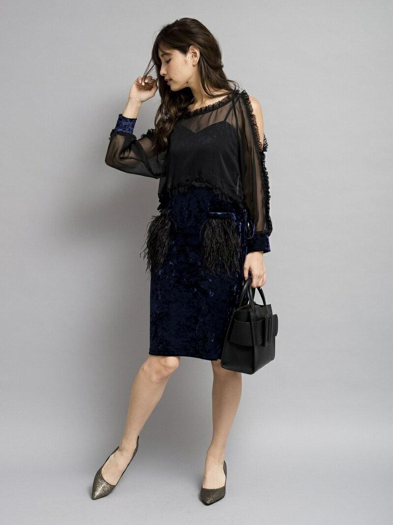 Million Carats レイヤーフェザーワンピース[DRESS/ドレス] ミリオンカラッツ【送料無料】
