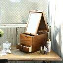 天然木コスメボックス ◆送料無料・日本製◆ 【国産木製コスメティックボックス L】 木製 化粧品収納ボックス メイク…