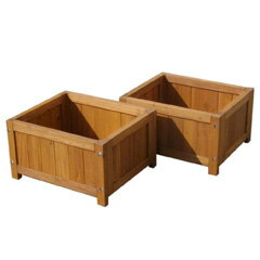 Attractive Deck Benches Planter 2 Pieces Set Width 45 DEP 2LB45 [square Planter Wooden Planters  Planter Wooden Square Planter Box Gardening Fashionable]